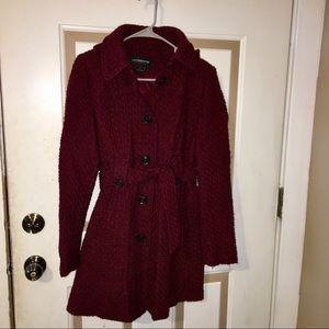 Liz Claiborne Belted Wool Coat